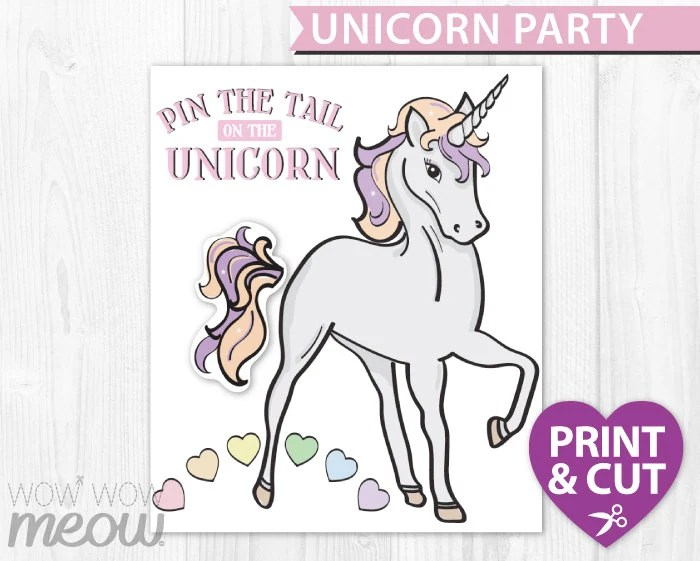 Pin The Tail On The Unicorn Instant Download Rainbow Games
