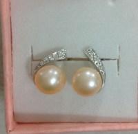 real pearl stud earringsgirl pearl earring by jewelryTang ...