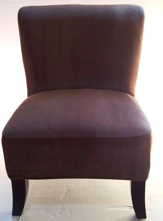 slipcover for armless chair office yishun brown stretch velvet cover chair, slipper accent mid ...