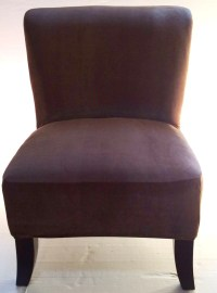 Slipcover Brown Stretch Velvet Chair Cover for Armless ...