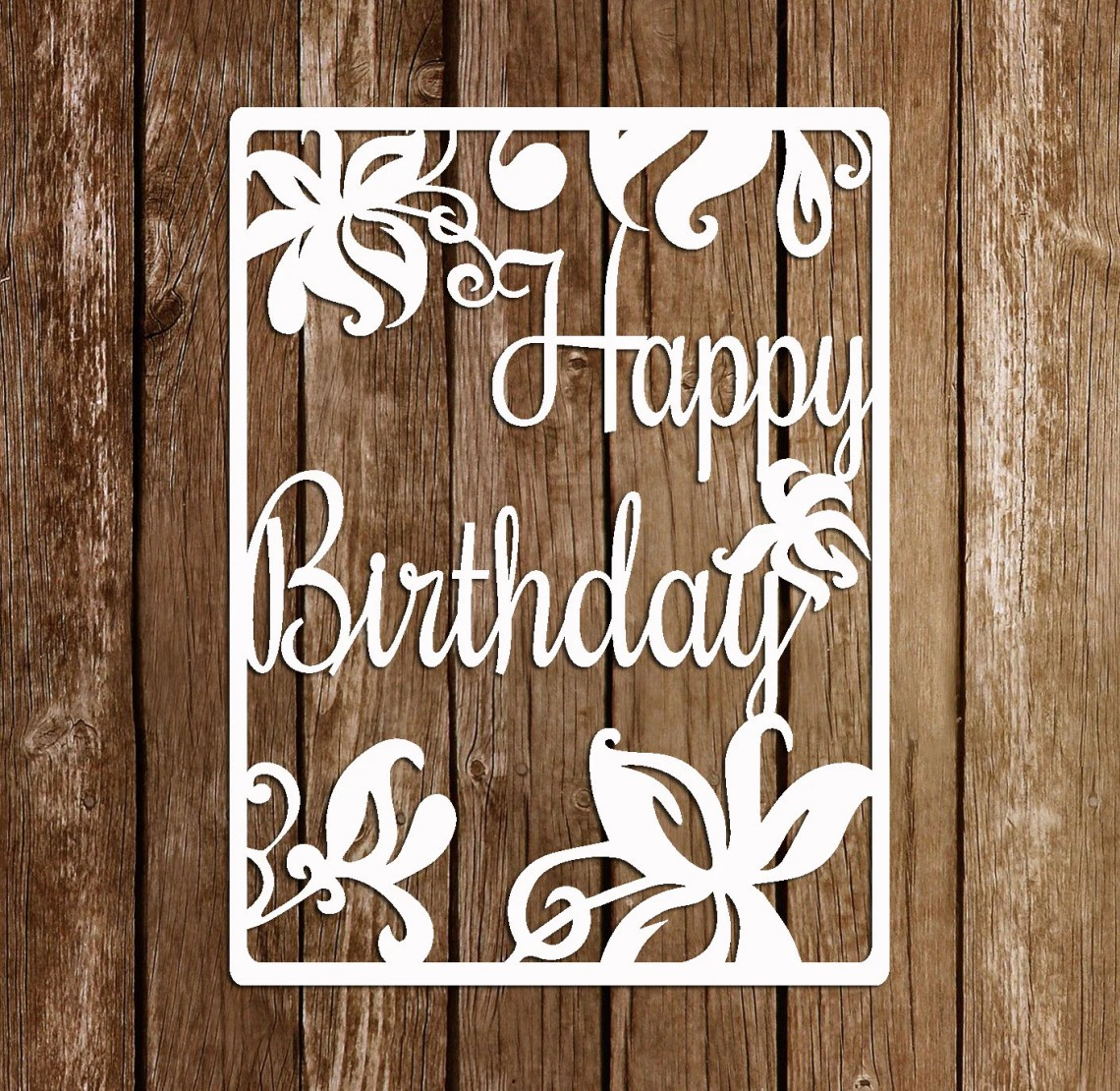 Download Paper Cutting Template, Papercut Birthday template, PDF ...