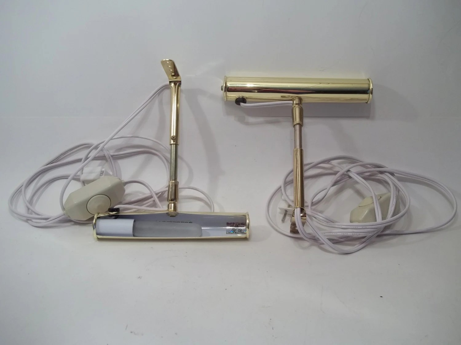Vintage Leviton wall sconce set Brass bed by