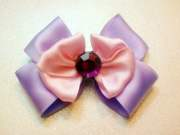 pink and purple hair bow bows