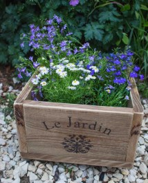 Vintage Style Planter Wooden Patio Outdoor