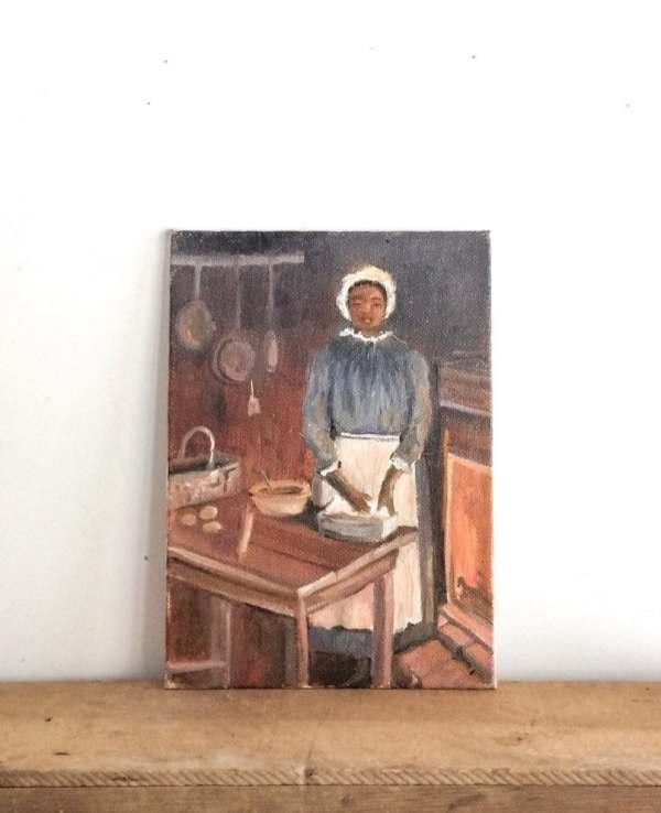 Primitive Vintage African American Folk Art Painting