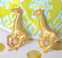 Giraffe Post Earrings Giraffe Earrings Gold Earrings