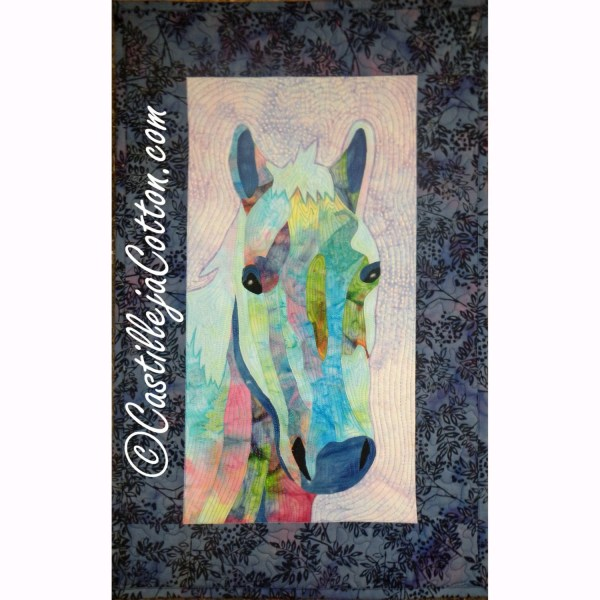 Horse Art Quilt 4504-16 Fabric Wall Hanging