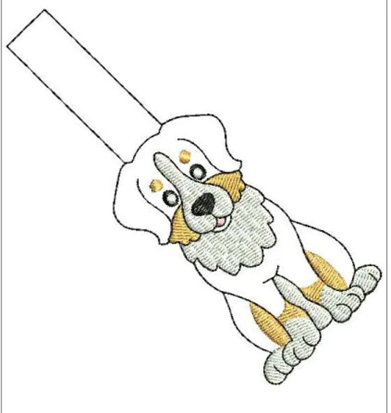 In The Hoop Dog Key Fob Set 3 Embroidery Machine Design