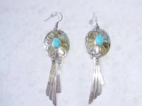Vintage Earrings Dangle Concho Earrings Sterling by ...