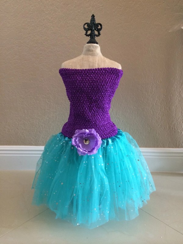 Little Mermaid Costume Dress Fairy Tutu