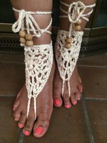 Crochet Barefoot Sandals Allthingsuniqueshop