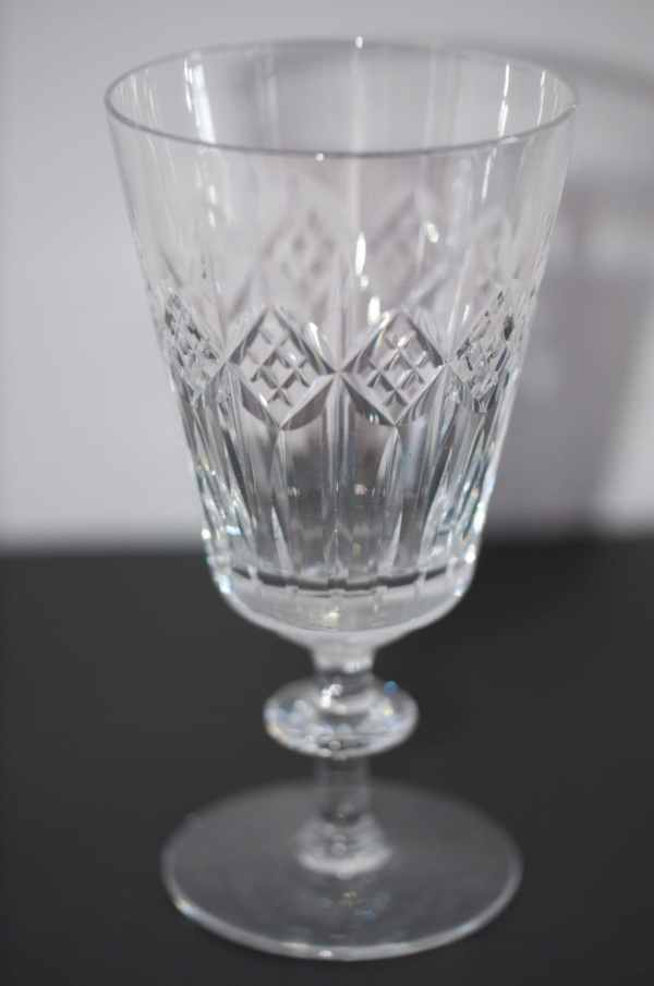 Cut Crystal Long Stem Water Goblets Wine Glasses