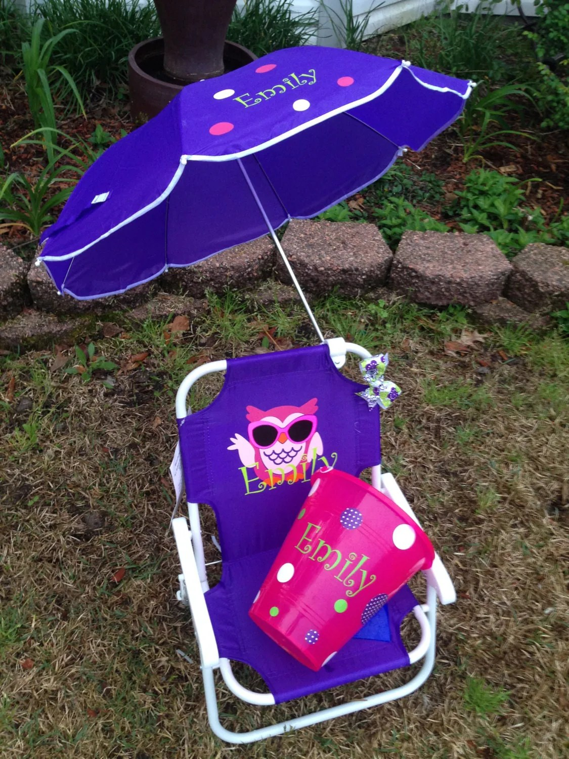Child Beach Chair Persoanlized Kids Beach Chair With Umbrella By