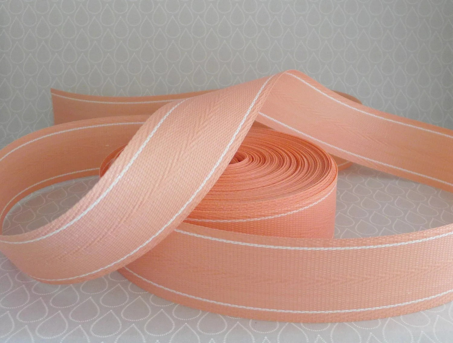 repair chair seat webbing white chairs for wedding reception lawn salmon peach pink heavy by