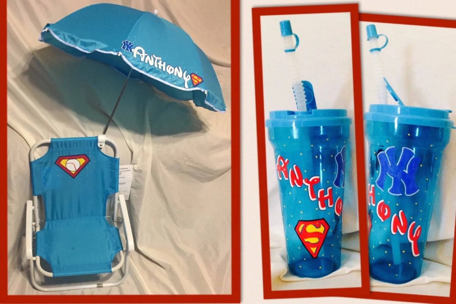 Kids Beach Chairs Personalized Kids Beach Chair With Umbrella And Matching Cup