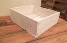 White Square Reclaimed Pallet Wood Planter Box Owldesigned