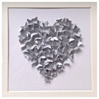 Butterfly Wall Art Silver Butterfly Wall decor Butterfly