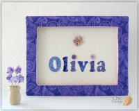 Personalized Wall Art for Kids Purple Room Decor For Girl