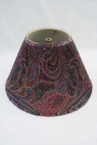 Vintage Robert Abbey Purple Blue Red Paisley Fabric Lamp Shade