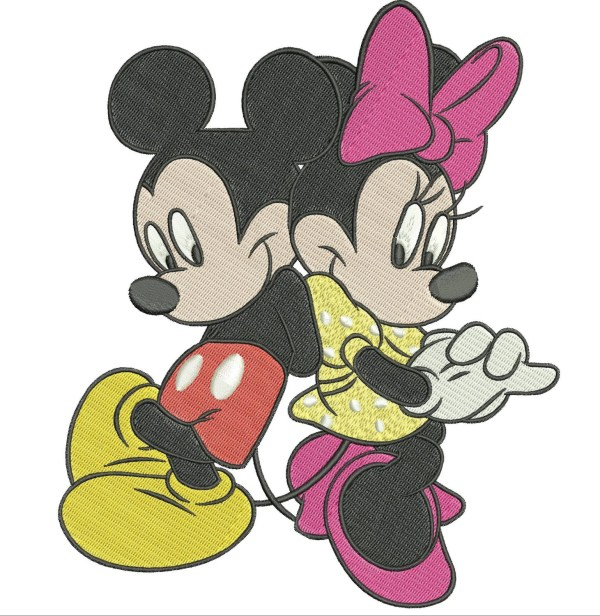 Instant Machine Embroidery Design. Mickey And
