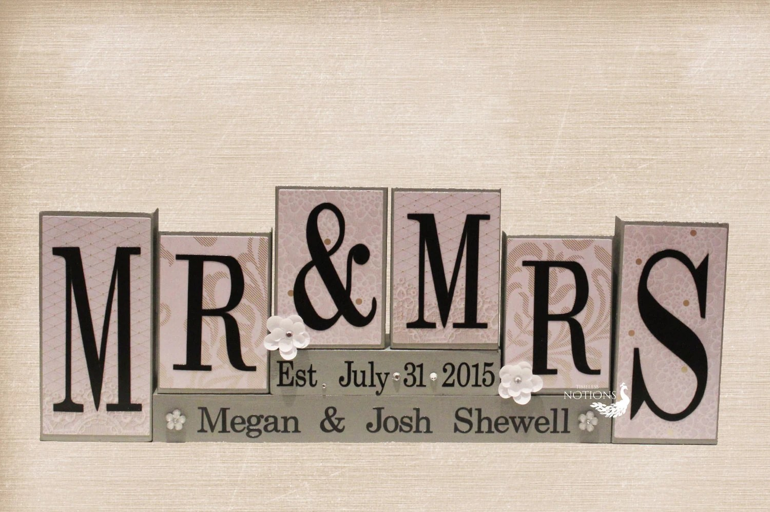 Personalized Mr And Mrs Wedding Sign Wooden By TimelessNotion