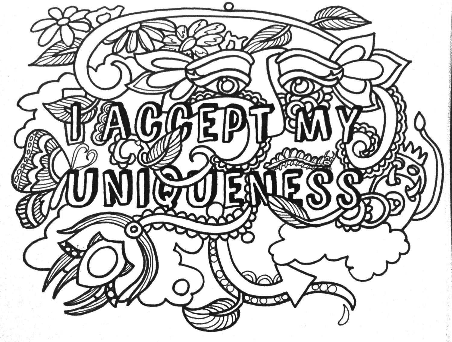 12 Empowering Affirmations Coloringpages Vol 1 Original