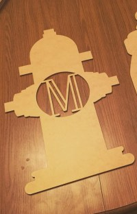 Fire Hydrant Monogram Wall & Door Decoration, DIY