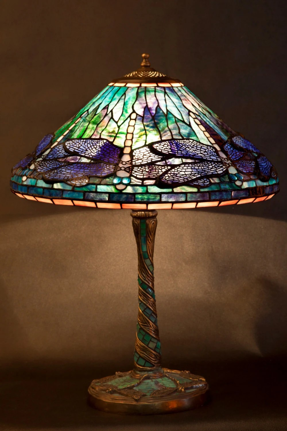 Dragonfly Lamp Stained Glass Tiffany Lamp Desk Lamp