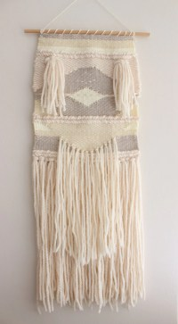 WEAVING/ Woven Wall Hanging Fiber Art Wool Tapestry