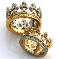 Crown Engagement Rings Wedding Rings Promise Rings by ...
