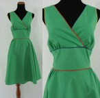 Vintage Sixties Dress 1960s Sun 60s Shamrock Green