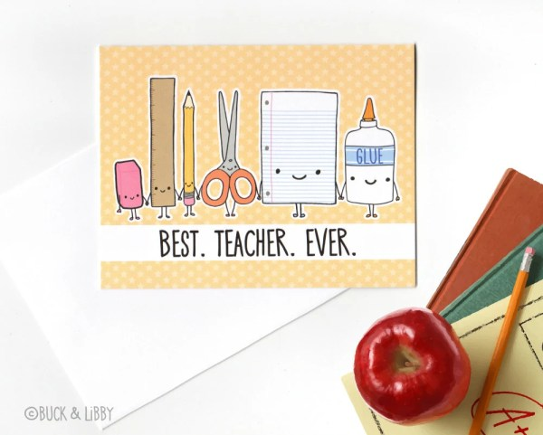 Teacher Card End Of School Year