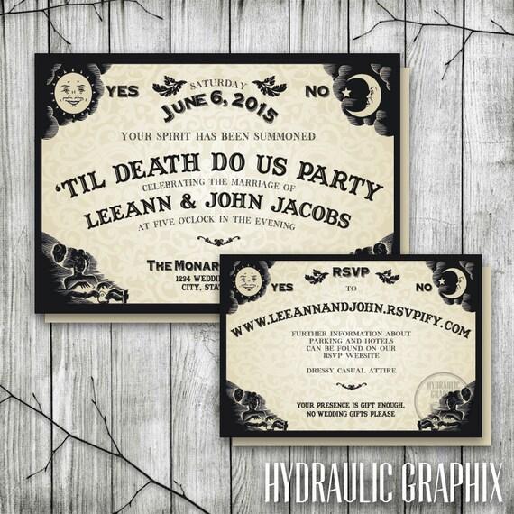 Ouija Board Invitation For Wedding Reception Halloween