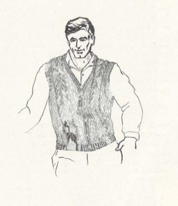Sunshine & Rain • 1960s V-Neck Pullover Cardigan Vest