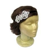 rhinestone bow headband hair