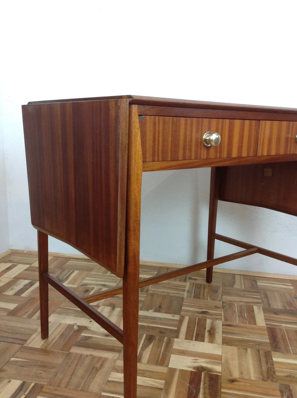 Mid century modern drop leaf console hall table in - Table haute console ...