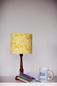 Lampshade mustard lampshade geometric home by ...