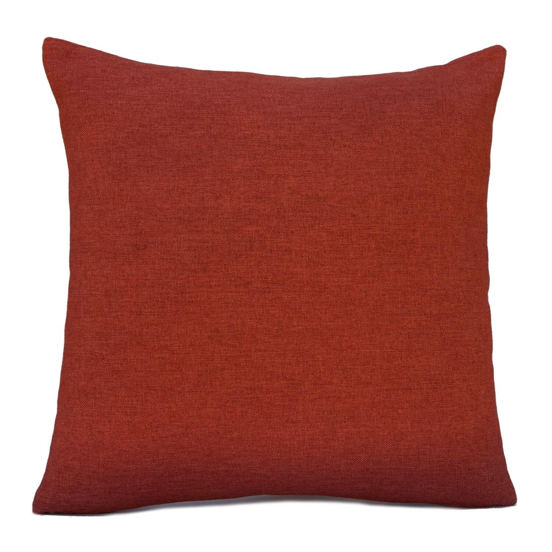 Dark Rust Orange Pillow Throw Pillow Cover Decorative