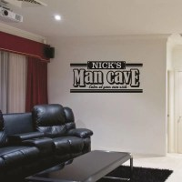 Man Cave Wall Decal Personalized Man Cave Decal Bar Wall