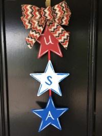 USA Door Hanger Patriotic Decoration Fourth of July
