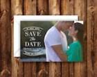 Elegant Modern Save the Date Announcement Wedding Invitation Photo Card 5x7 Digital File or Printed Invites
