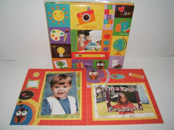 School Days Scrapbook Album Preschool