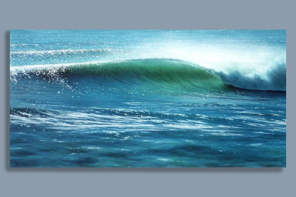 Surf Art Print Reef Pass Airbrush Seascape