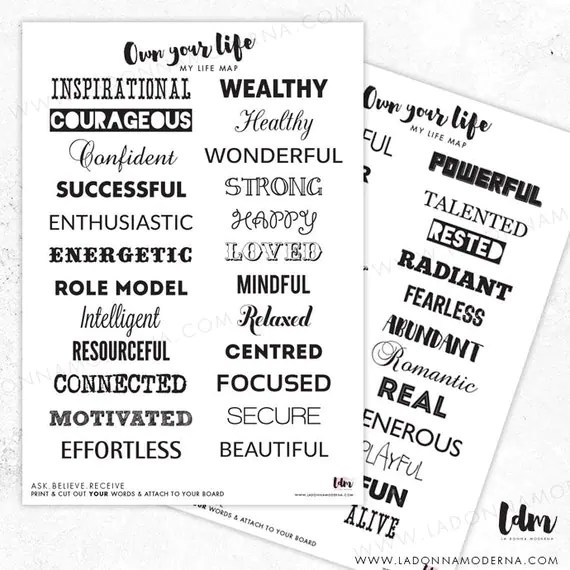 My Life Map Printable Vision Board Dream by AwesomeEndsInMe