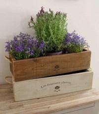 Vintage style Trough planter window box planter trough