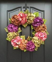 SUMMER WREATHS Front Door Wreaths Spring Hydrangea Wreath