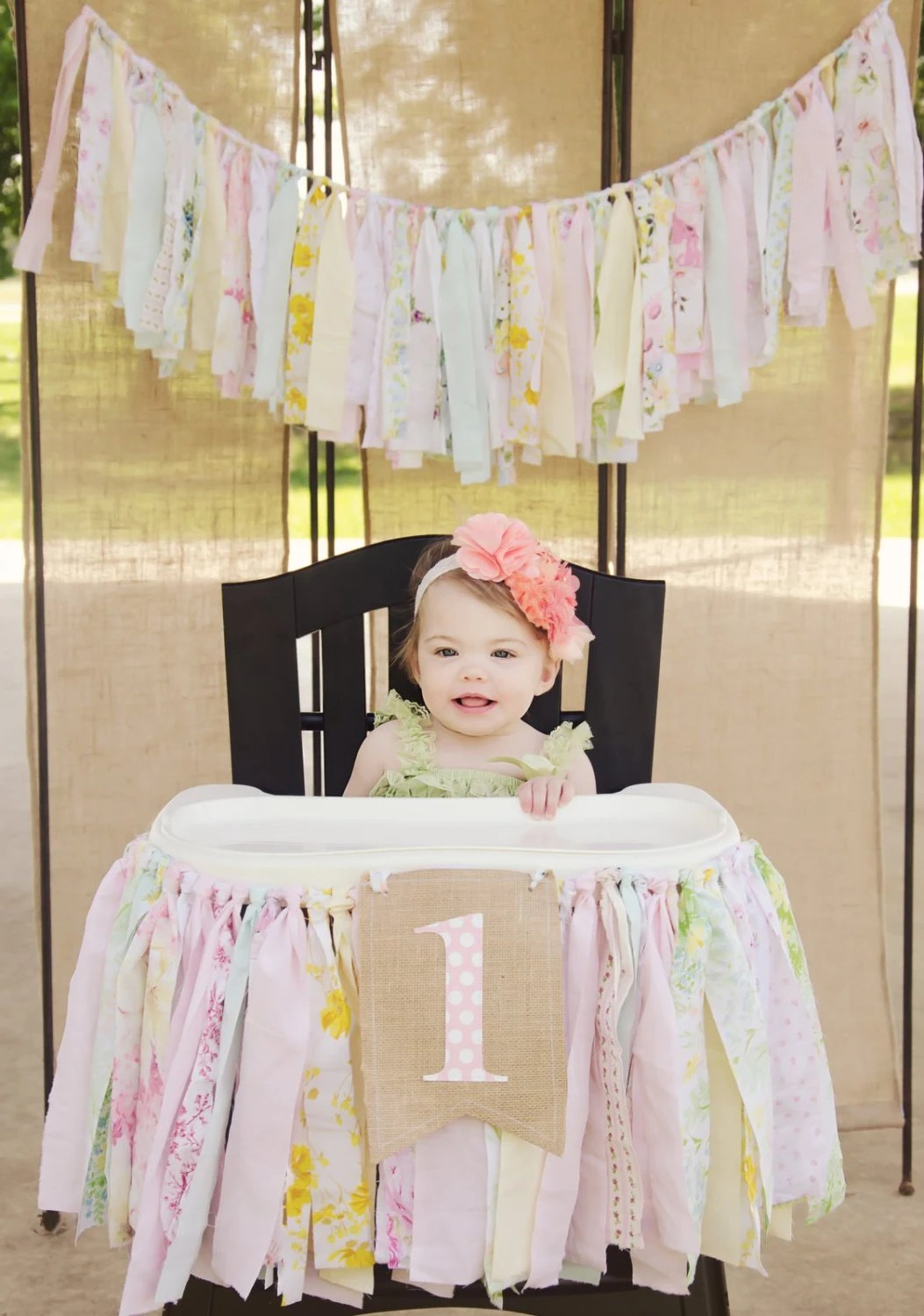 Girl High Chairs Girls High Chair Banner First Birthday Party Supplies