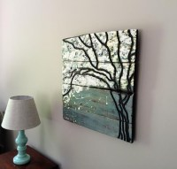 Tree Painting Tree Silhouette Abstract Painting Wood