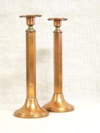 Candle Holders Copper Candle Stick Mid-Century Arts