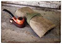 Waxed Canvas & Leather Pipe Tobacco Roll by ...